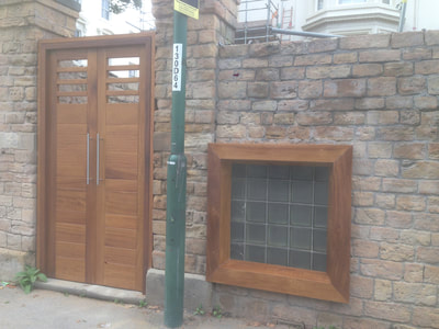 Bespoke Iroko Doors and Windows for Alchemilla Restaurant Nottingham