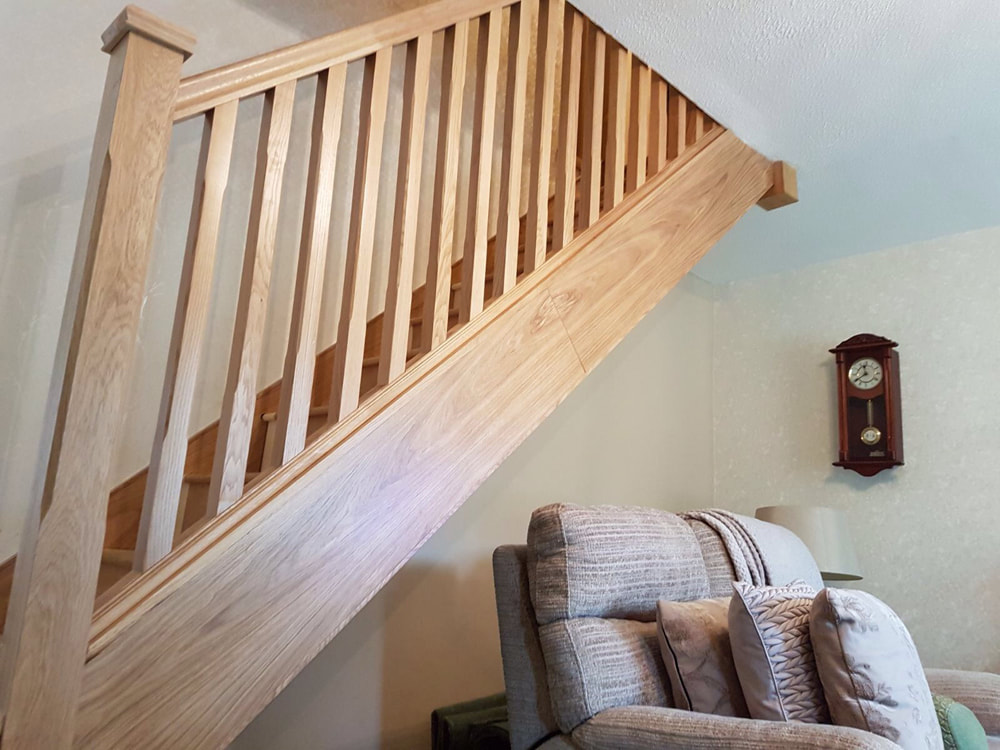 Oak Staircase Cladded Ashbourne, Derbyshire